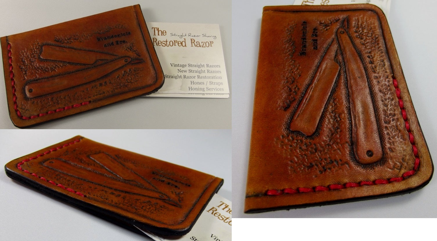 Flaquito leather custom hand tooled leather minimalist front image of custom hand tooled leather minimalist front pocket wallet business card credit card magicingreecefo Image collections