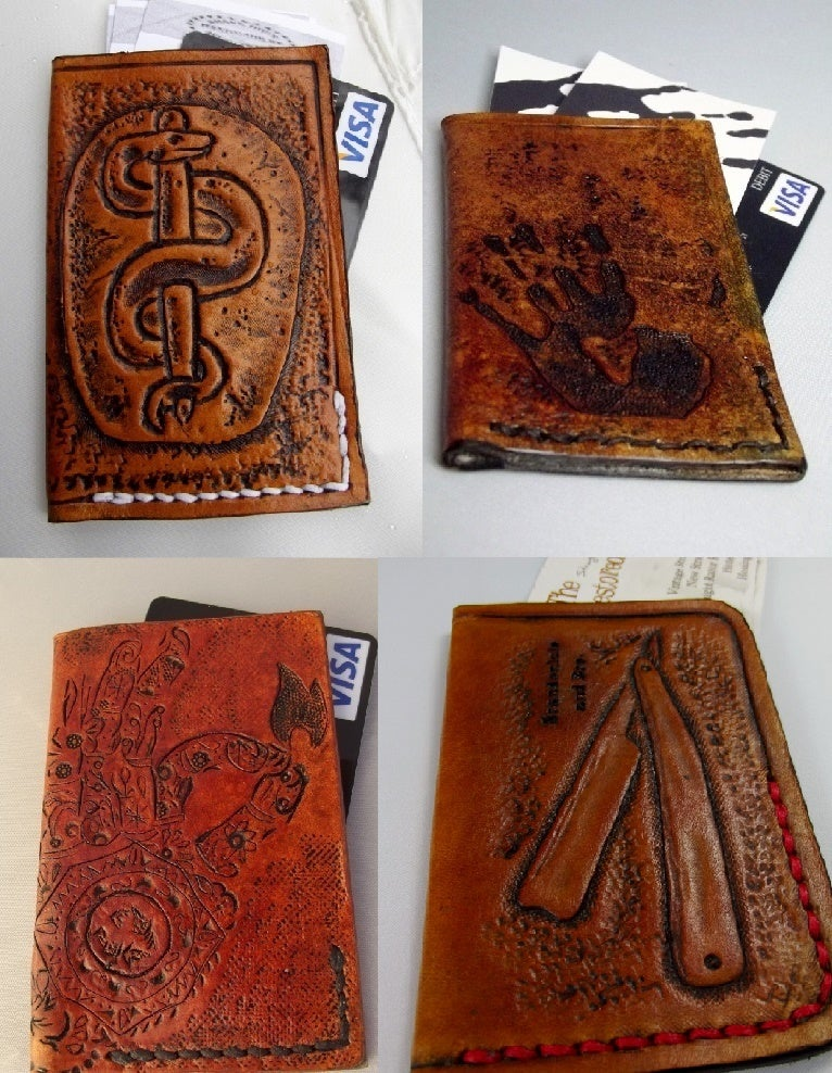 Flaquito Leather — Custom Hand Tooled Leather Minimalist Front ...