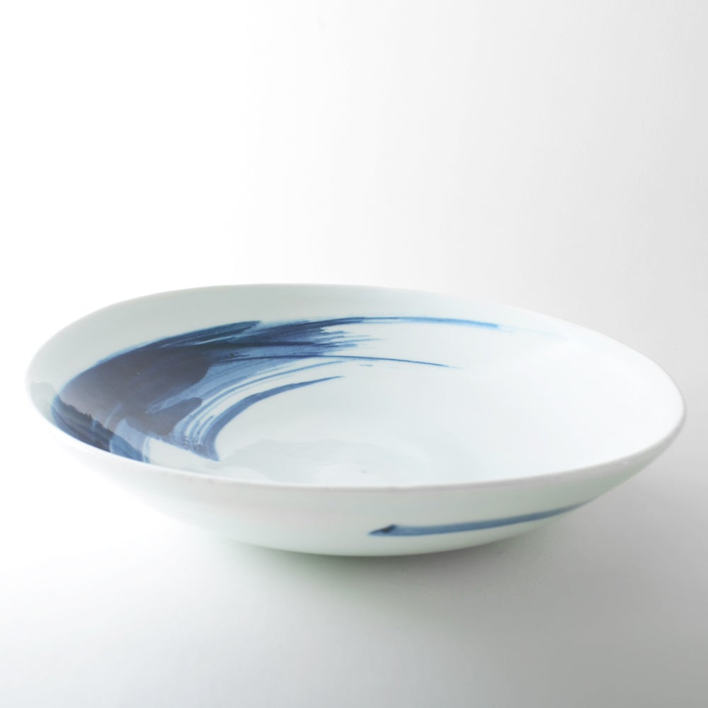 Image of porcelain shallow bowl