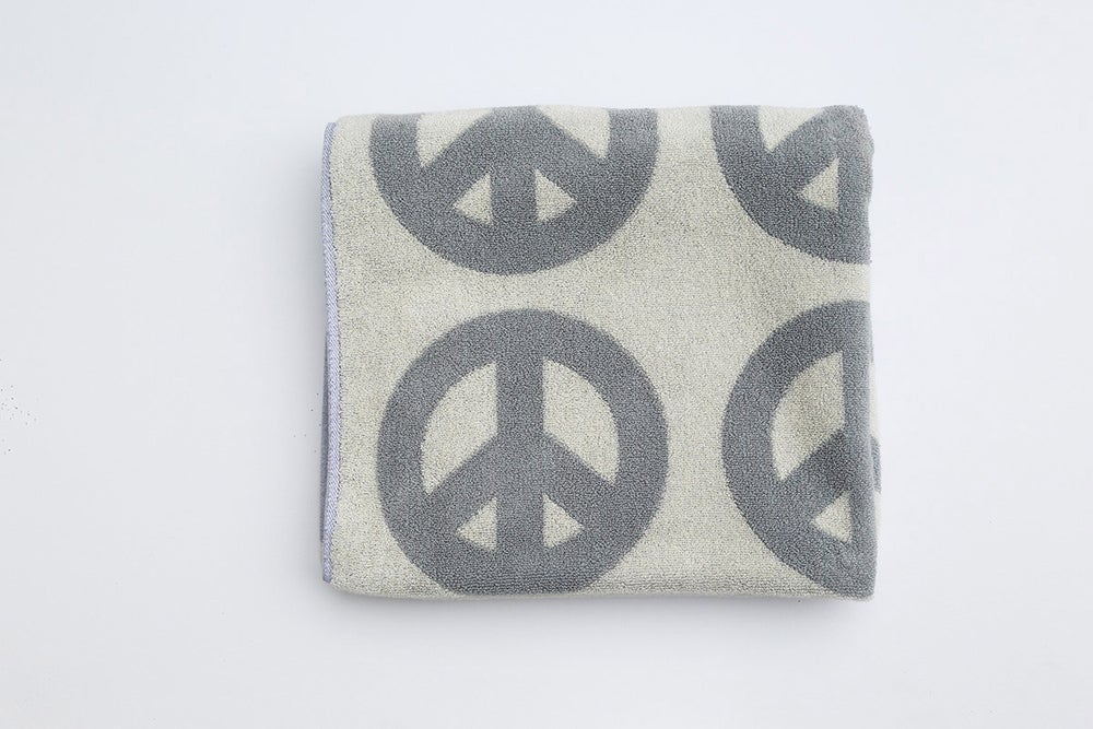 Image of Large Peace Towel <div> Gray & Scour</div>