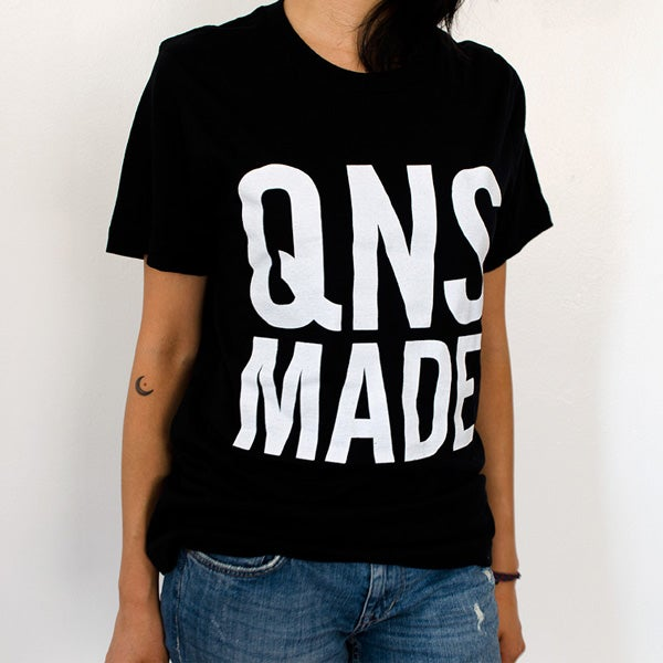 Image of QNS MADE Square Logo T-Shirt - Black
