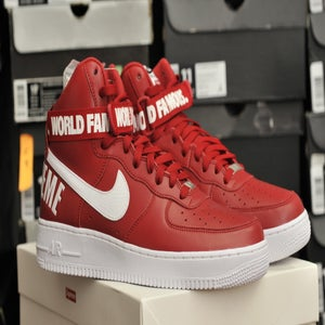 "Image of AIR FORCE 1 HIGH SUPREME SP ""SUPREME RED BOX LOGO"""