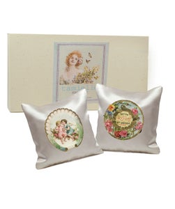 Image of Set of II Silk Cushions: Vintage soaps