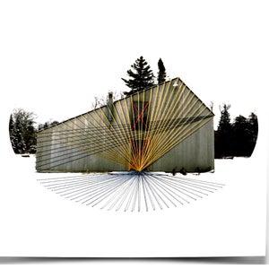 "Image of Original hand threaded art work: ""Forward"""