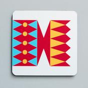 Image of Cracker coaster Red