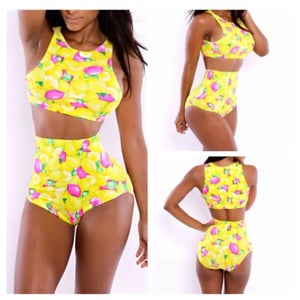 Image of Two piece high waist swimsuit