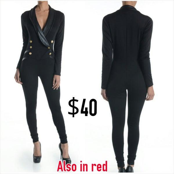 """Image of """"Tuxedo"""" Jumpsuit"""