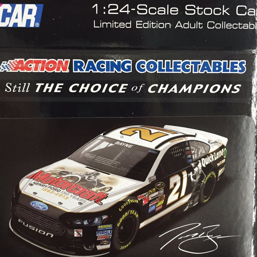 Image of 2013 Henry Ford Tribute 1:24 Scale Stock Car, Autographed by the Wood Brothers