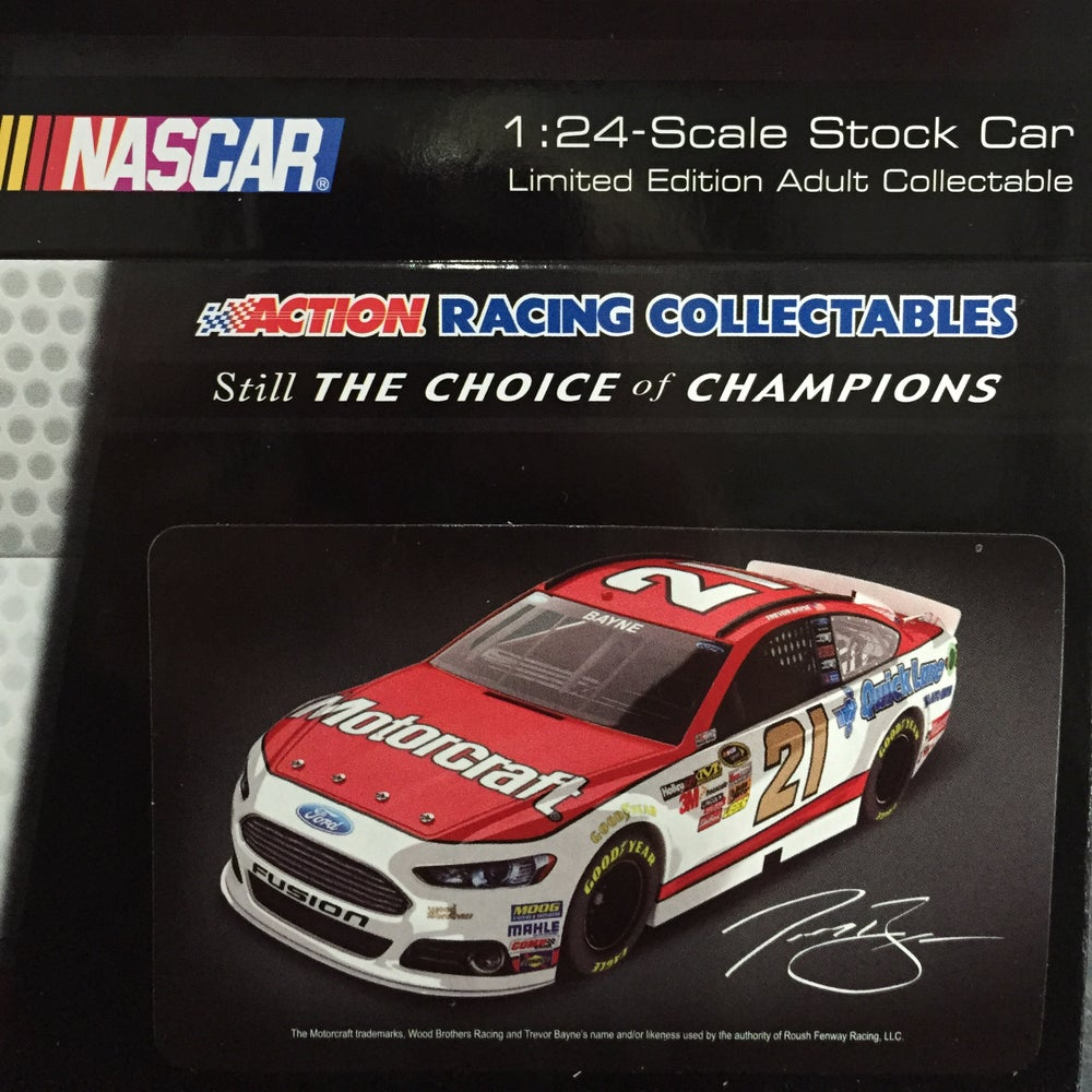Image of 2013 Trevor Bayne 1:24 Scale Stock Car, Autographed by the Wood Brothers