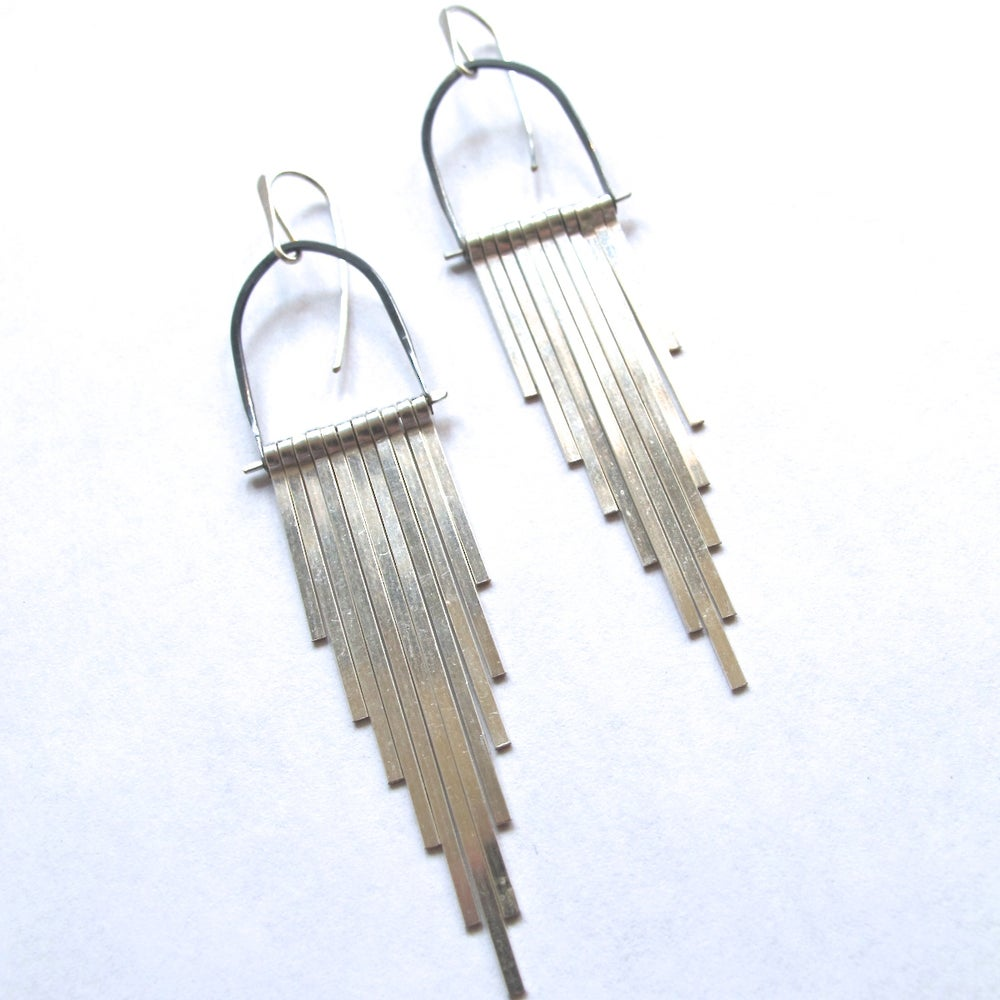 Image of Silver Celestial Earrings