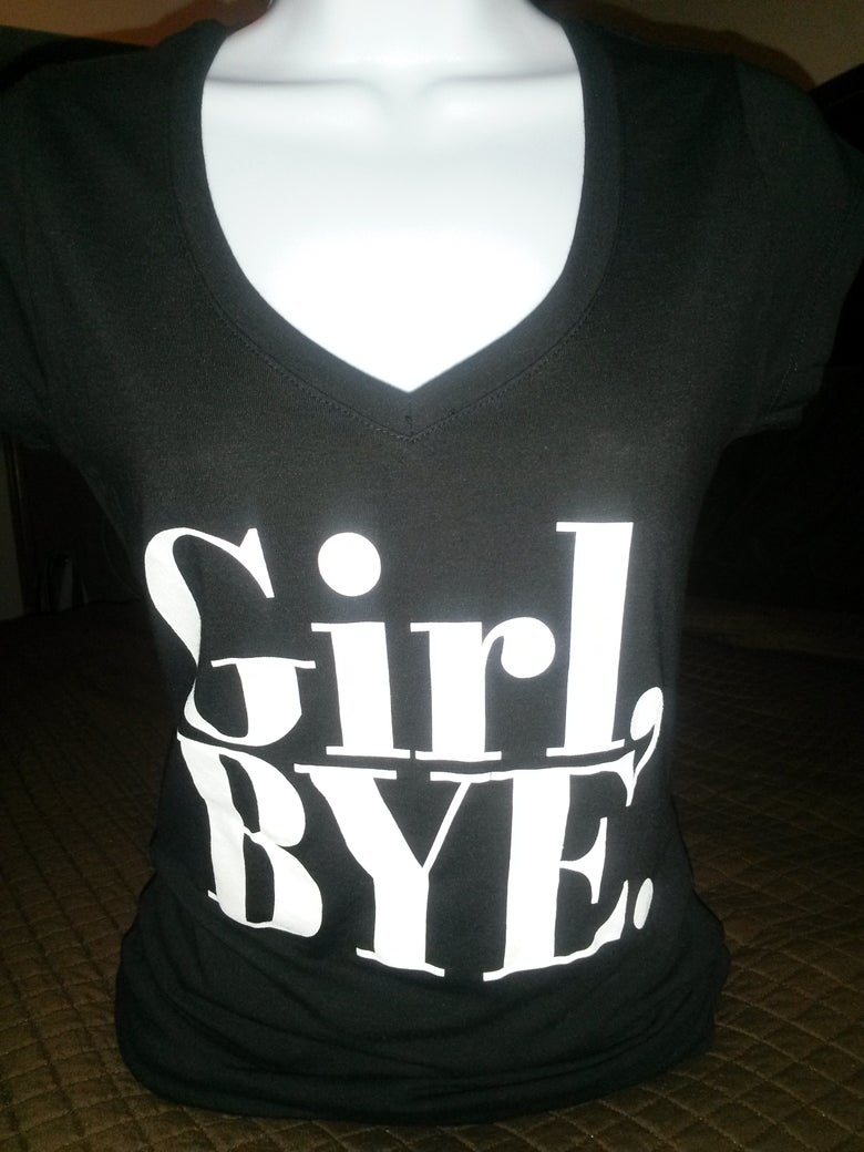 Image of Girl Bye Tee Black Shortsleeve