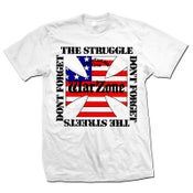 "Image of WARZONE ""Don't Forget The Struggle"" White T-Shirt"