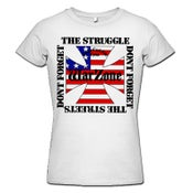 "Image of WARZONE ""Don't Forget The Struggle"" White Girlie Shirt"