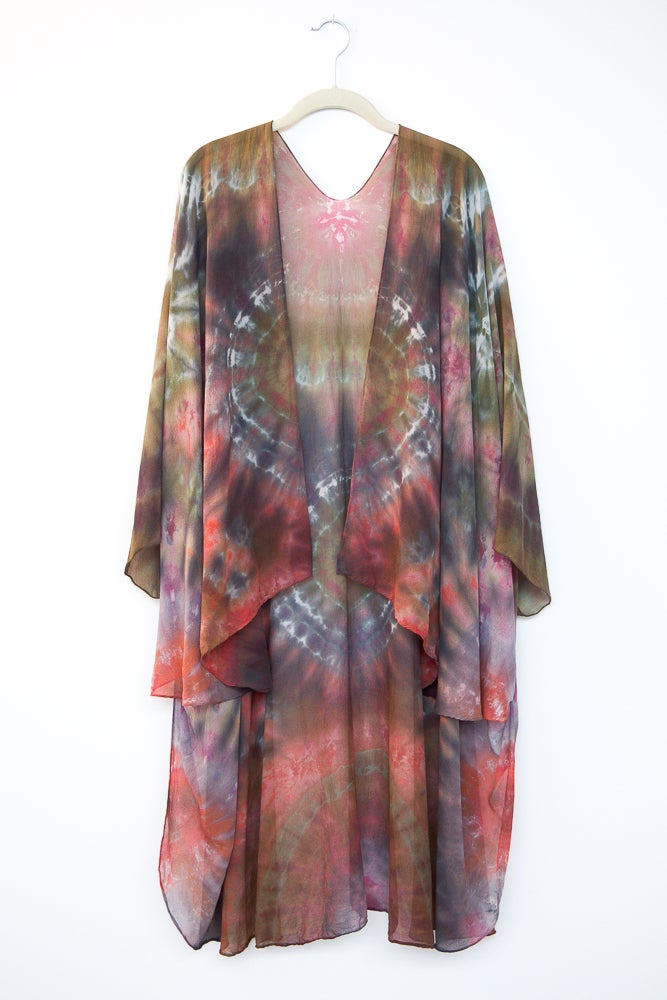 Image of Desert Bloom Silk Kimono/Cape