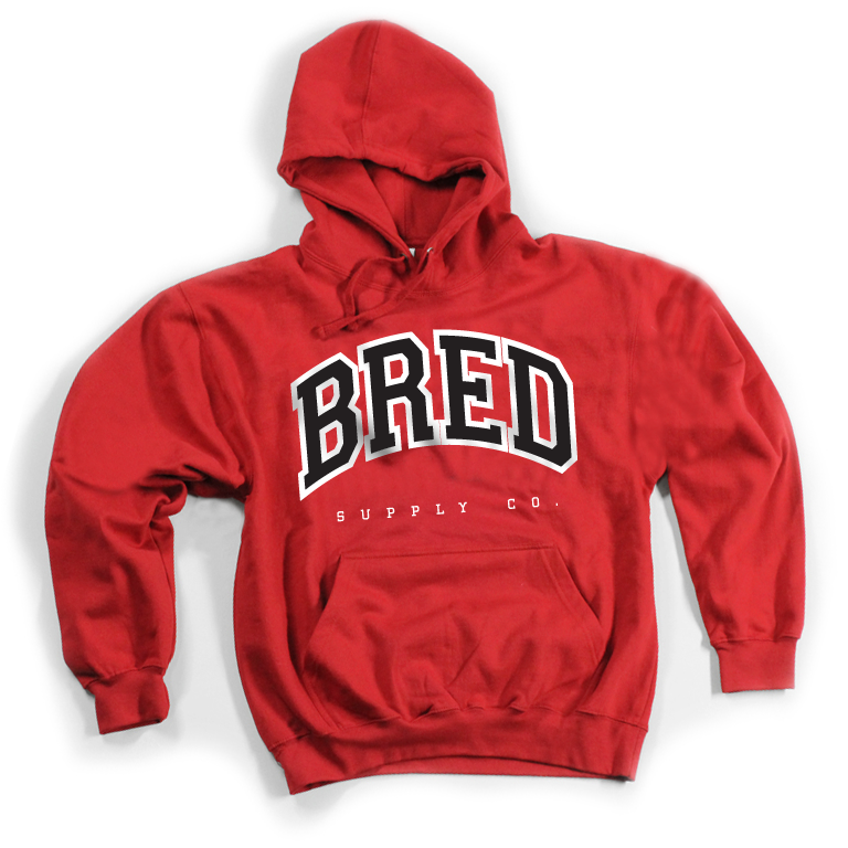 Image of BRED Co. Hoodie - RED