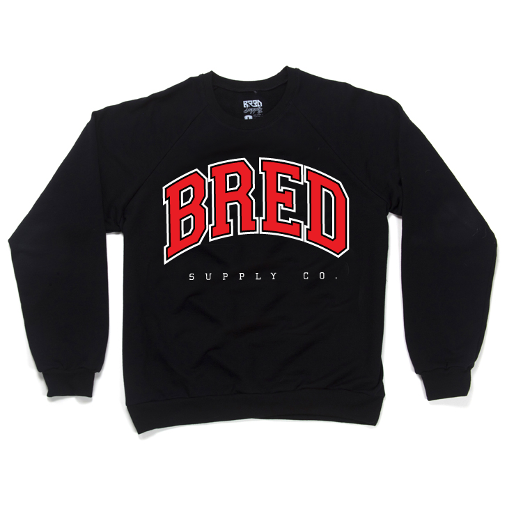 Image of BRED Co. Crewneck Sweatshirt - BLACK