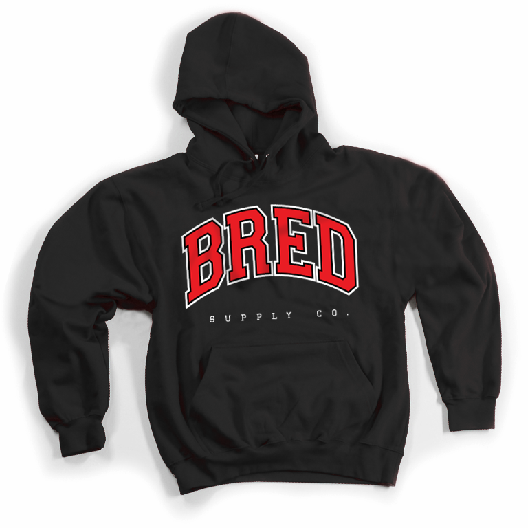 Image of BRED Co. Hoodie - BLACK