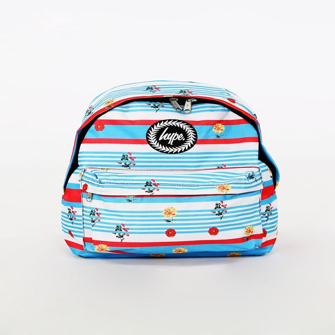 Image of HYPE. FLORAL STRIPE BACKPACK