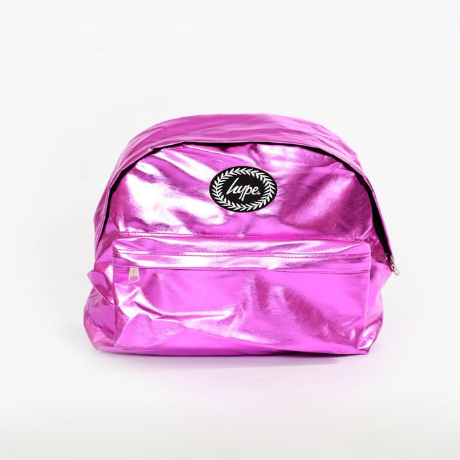 Image of HYPE. PINK METALLIC BACKPACK