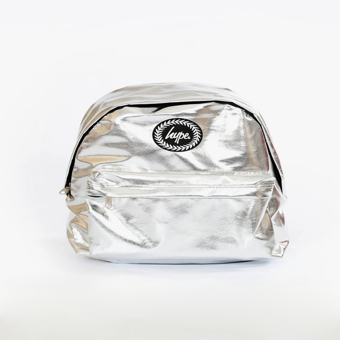 Image of HYPE. SILVER METALLIC BACKPACK