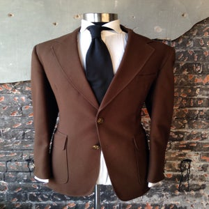 Image of Brown Blazer-Gold Buttons