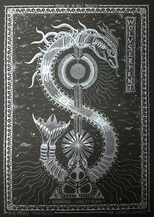 Image of WOLVSERPENT (2014) Screenprinted Poster