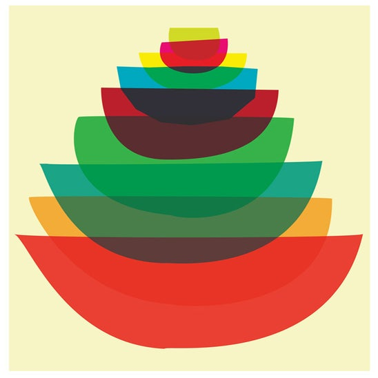 Image of Bowl Stack Kitchen Art Print