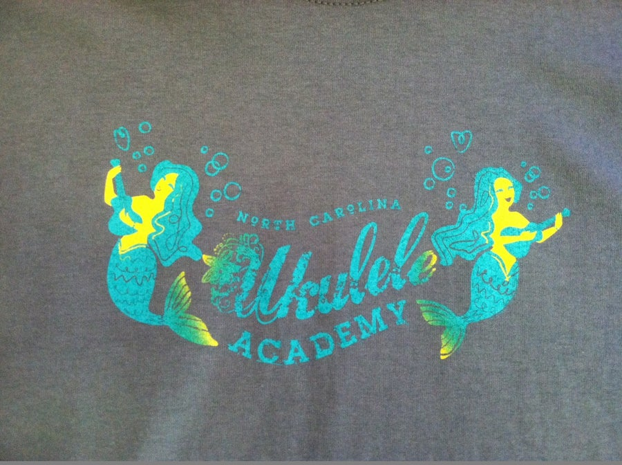 Image of T-Shirt Ukulele Academy Strumming Mermaid
