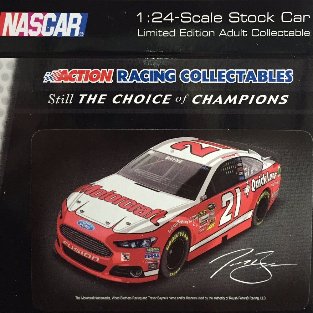 Image of 2013 Daytona 500 Tribute 1:24 Scale Stock Car, Autographed by the Wood Brothers