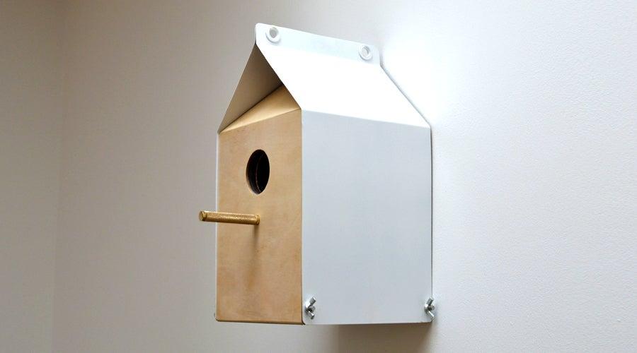Image of Milk Carton inspired Nestbox / Birdhouse