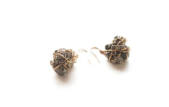 Image of Pyrite Princess Earrings