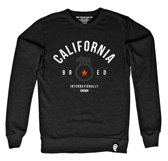 Image of Cali Bred (GNT) Black Crewneck