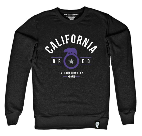 Image of Cali Bred (SAC) Black Crewneck