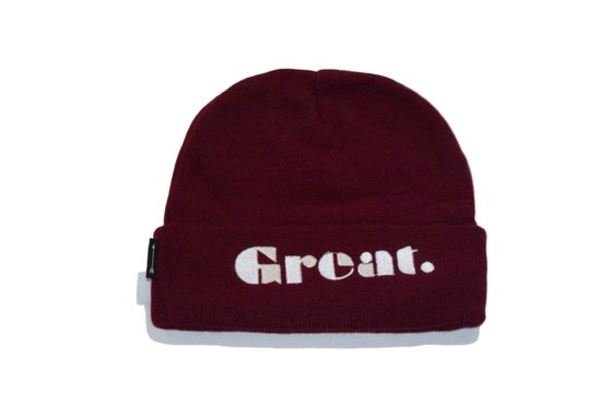 Image of Simply Great Beanie (Burgundy)