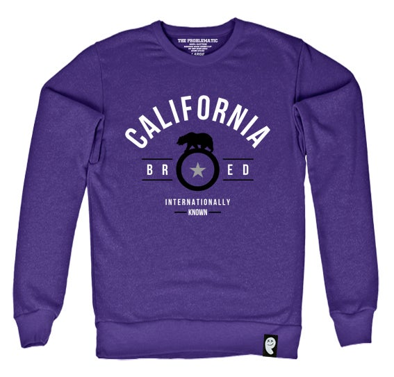 Image of Cali Bred (SAC) Purple Crewneck