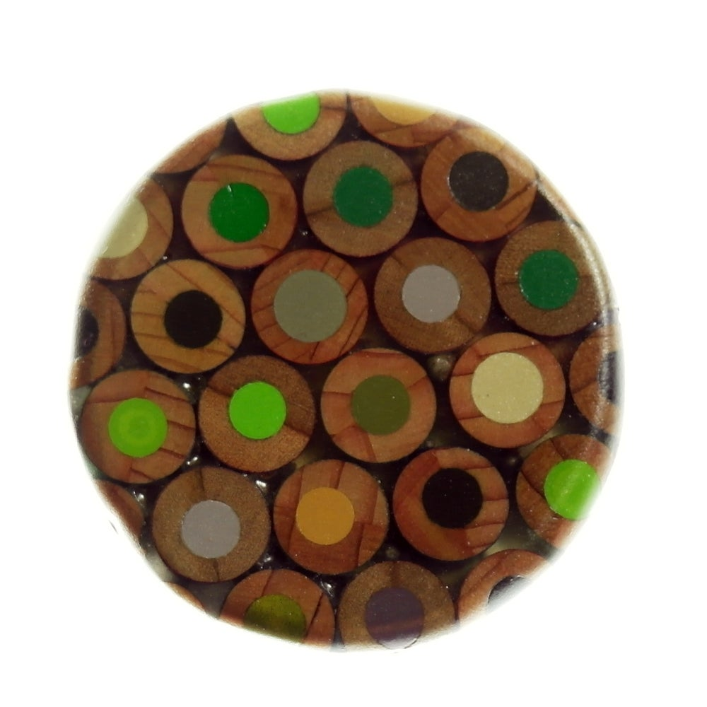 Image of round brooch