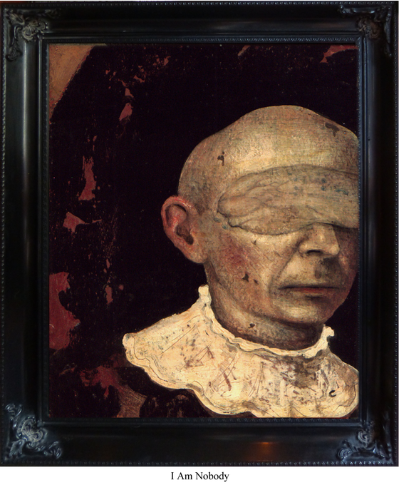 Image of Framed Canvas Giclee- I Am Nobody