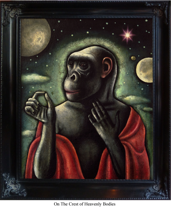 Image of Framed Canvas Giclee- On The Crest of Heavenly Bodies