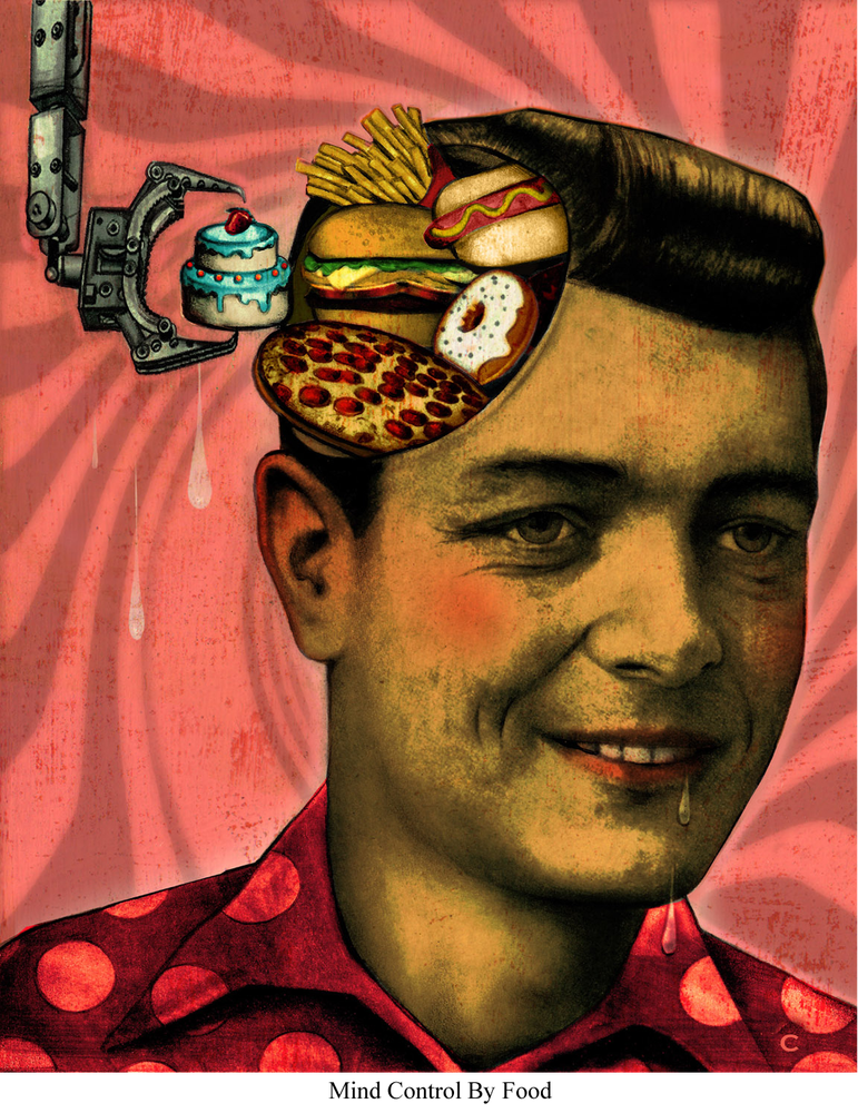 Image of Canvas Giclee- Mind Control By Food