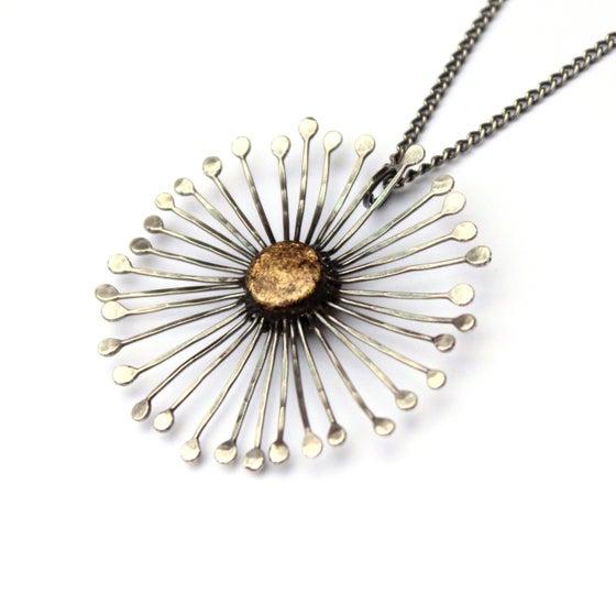 Image of Silver dandelion clock pendant