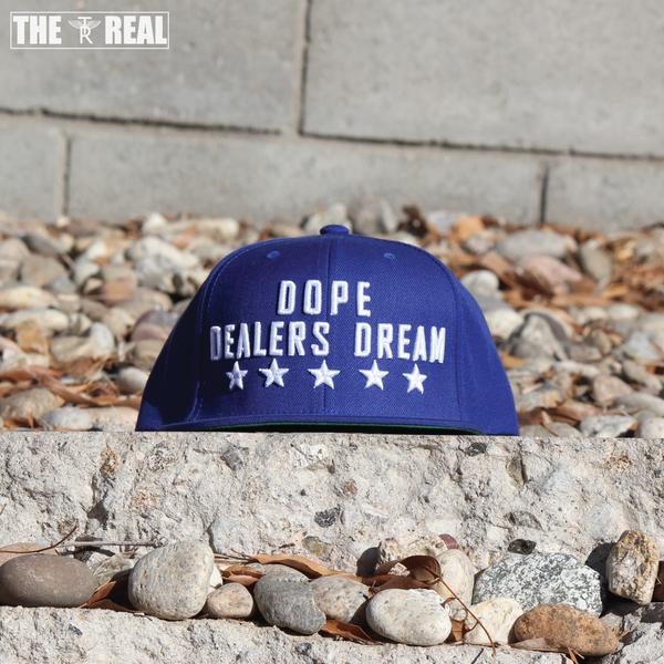 Image of DOPE DEALERS DREAM Snapback in Blue