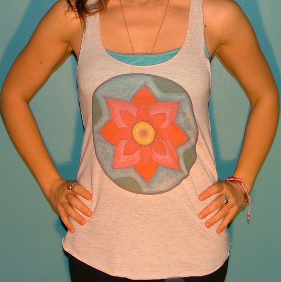 Image of Pink Lotus Racer Back Tank Top