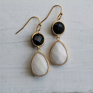 Image of Classic Monochrome Drop Earrings