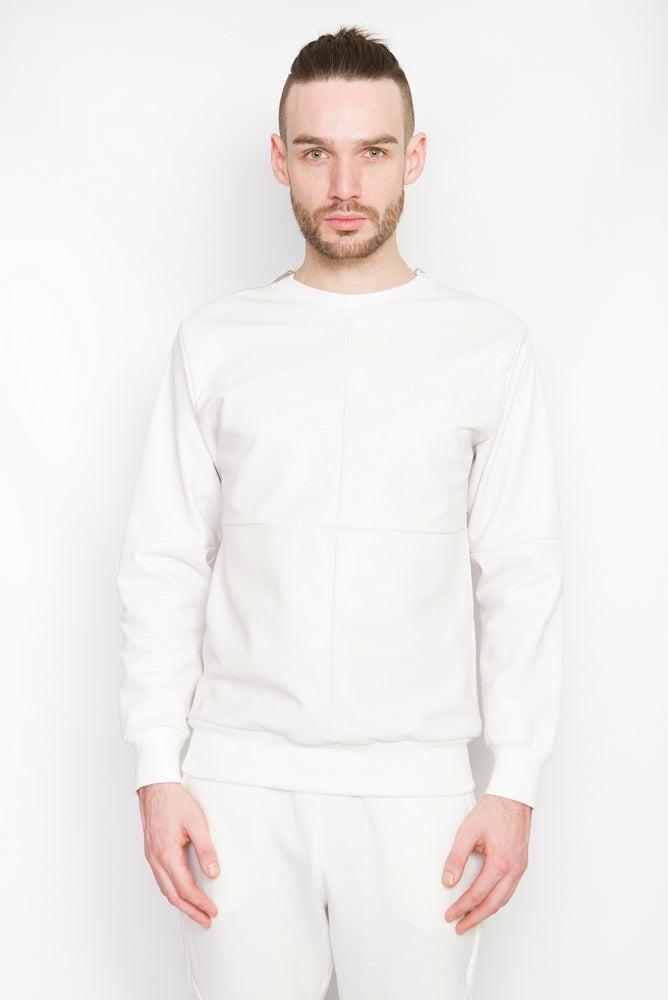 Image of Ⅲ W Napa Leather Sweater