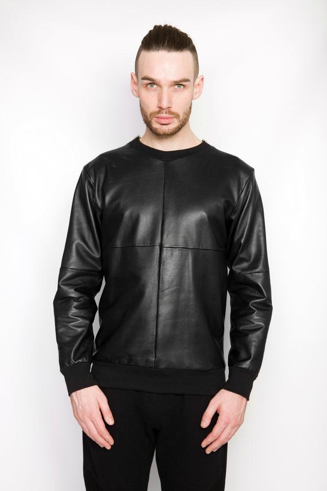 Image of Ⅲ B Napa Leather Sweater