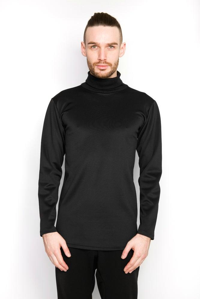 Image of Ⅲ B Neoprene Turtle Neck Sweater