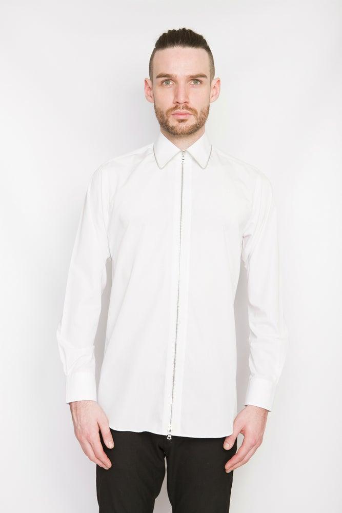 Image of Ⅲ Silver/White Zip Shirt