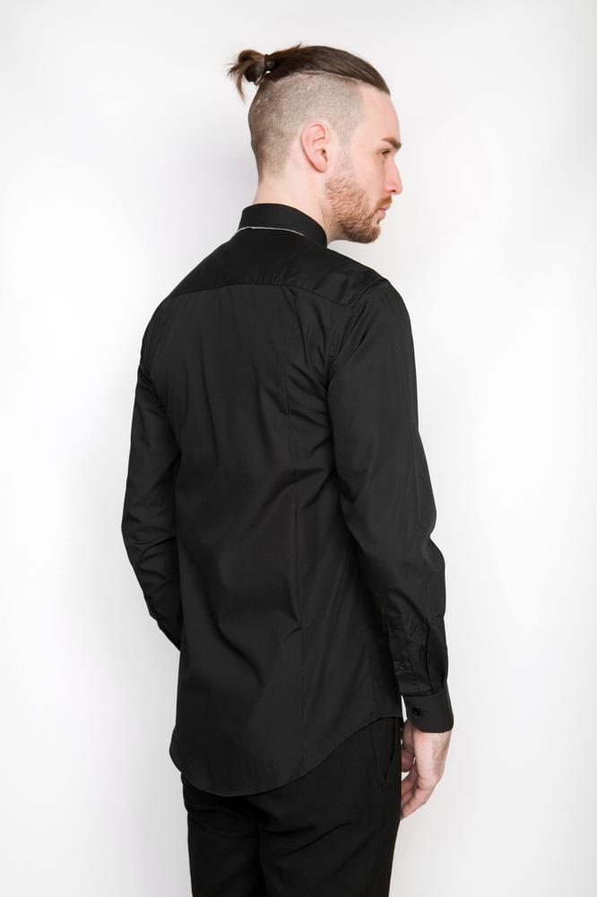 Image of Ⅲ Silver/Black Zip Shirt