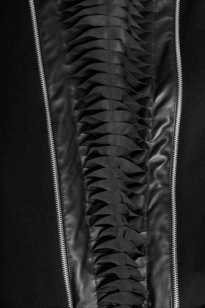Image of Ⅲ Twist Leather Jacket