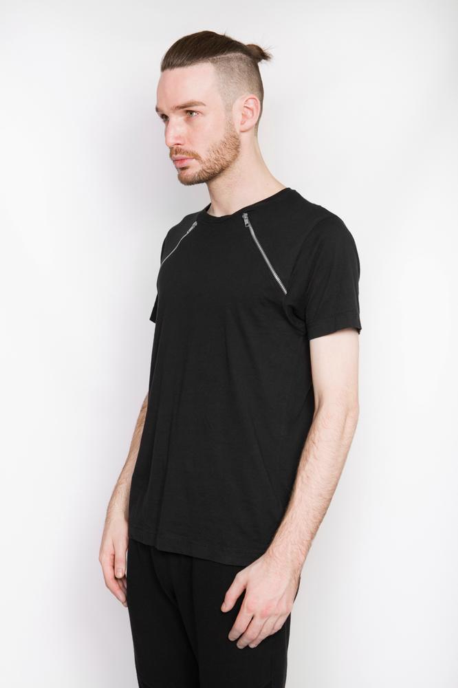 Image of Ⅲ Cross Zip T-Shirt